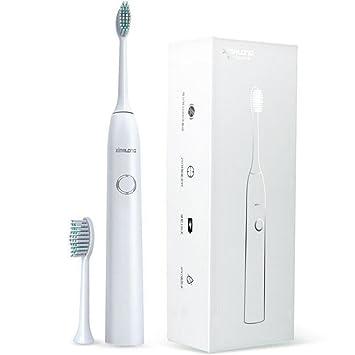 Cepillos de dientes eléctricos Sonic Technology Dientes recargables limpios como un dentista Carga USB 2 cabezales de repuesto impermeable Totalmente ...