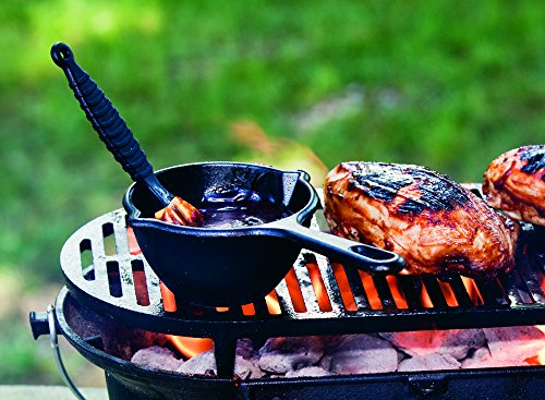 Lodge 8 Inch Cast Iron Skillet. Small Pre-Seasoned Skillet for Stovetop, Oven, or Camp Cooking