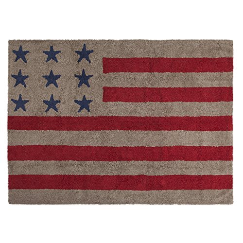 Lorena Canals Washable Rug (Flag American/Linen/Red) by Lorena Canals   B01MQOTZ0I