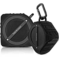 Portable Bluetooth Speaker Pair with High Definition Sound and Rich Enhanced Bass IPX7 Waterproof Dustproof Powerful 3D Surround Stereo Bluetooth V4.0 Speakers for Home, Outdoor
