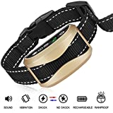FOLKSMATE [2018 Upgrade Version Bark Collar, Dog No Bark Collars Upgrade 7 Sensitivity, USB Rechargeable Waterproof Dog Training Collar with No Harm Shock and Vibration for Small Medium Large Dog