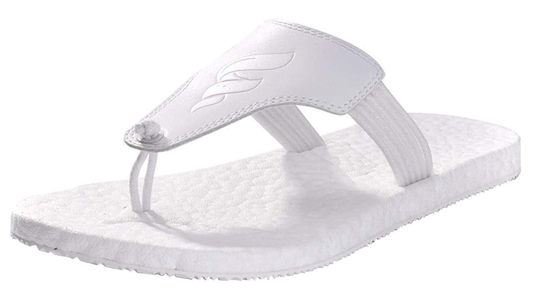 FuweiEncore Herren Klassische Flip Toe Separator Flip Flops Ideal Für Strandurlaub Gym Erholung Sandalen Rutschfeste Hausschuhe (Farbe   Weiß, Größe   40EU)