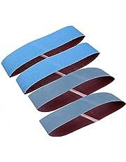Aluminium Schuurriemen 4 Stks - GOODCHANCEUK Slijpschuurmachine Riem 100 x 915mm Aluminium Oxide Schuurpapier Riemen voor Metaal Roest Polijsten Slijpen P80&P1000 Elke 2 stks Blauw