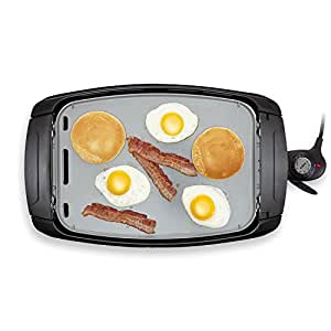 BELLA 2-in-1 Reversible Grill Griddle Combo, 1500 Watts, Ceramic Coated BPA Free