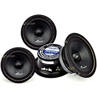 (4) AUDIOPIPE APMB-6SB-C TWO PAIR 6-6.5 SEALED BACK FULL RANGE LOUD SPEAKER MID