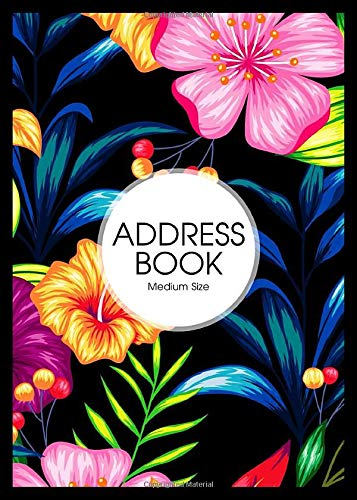 A5 Address Book Large: A5 Telephone Address Book With Alphabetical Index : Address Book Handbag Size : Spaces for Name A5 Address Books Address Phone Email Include .. : Address Book Black A5