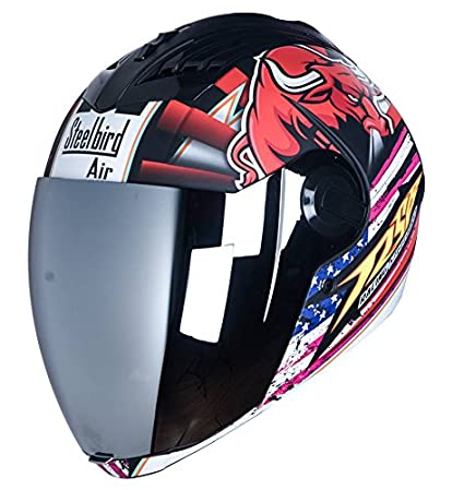 f1cbeac1 Image Unavailable. Image not available for. Colour: Steelbird Sba2 Bargy  Design Full Face Helmet ...