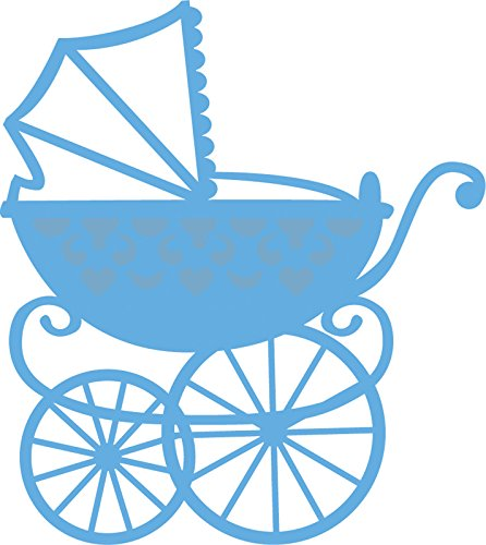 Ecstasy Crafts Marianne Design Creatables Dies, 2.875 by 3.25-Inch, Baby Carriage