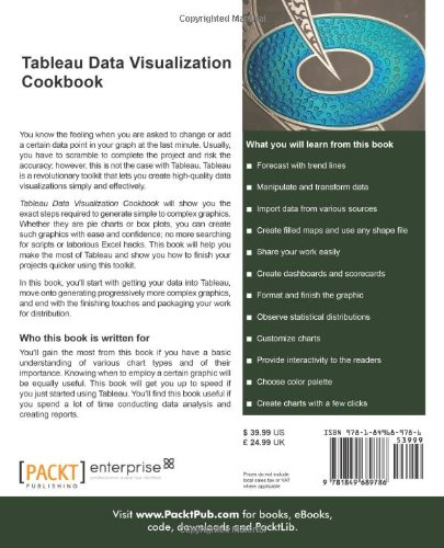 Amazon.com: Tableau Data Visualization Cookbook (9781849689786 ...