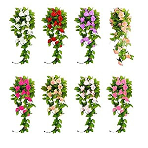 XuanhemenL Artificial Rose Vines Bouquet Garden Wedding Decoration Naibai 78