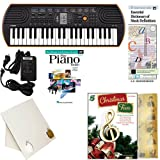 Homeschool Music - Learn to Play the Piano Pack (Christmas FunBook Bundle) - Includes Casio SA76 Keyboard w/Adapter, learn 2 Play DVD/Book, Books & All Inclusive Learning Essentials