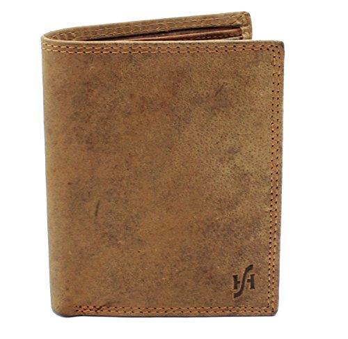 StarHide® Herren Designer Braun Beunruhigt Jäger Leder Multifunktionale Münze Tasche Geldbörse Kommt In Einem Geschenkbox #1070