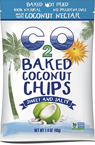Coconut Pieces - C2O Baked Coconut Chips, Sweet and Salty, 1.4 Ounce (Pack of 12)