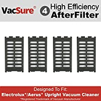 Electrolux Replacement After Filter For Upright Vacuum Cleaner By VacSure (4 Pack)