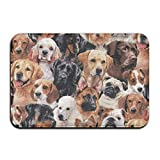 MECIKR Doormat Dog Breeds Packed Dogs Outdoor Mats