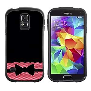 Suave TPU GEL Carcasa Funda Silicona Blando Estuche Caso de protección (para) Samsung Galaxy S5 / CECELL Phone case / / Tie Bow Bowtie Black Pattern Polka /