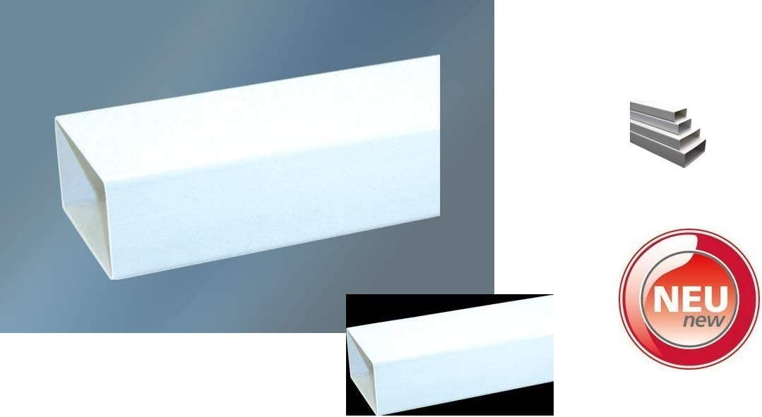 Flachkanal 125:L/änge 0.5m Domodul Flachrohr System 150x70