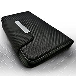 Talkingcase (TM) Samsung Galaxy Note 3 Note III Colorful Wallet Type Magnet Design Flip Case Cover + One Free Stylus (Carbon Fiber Pattern)