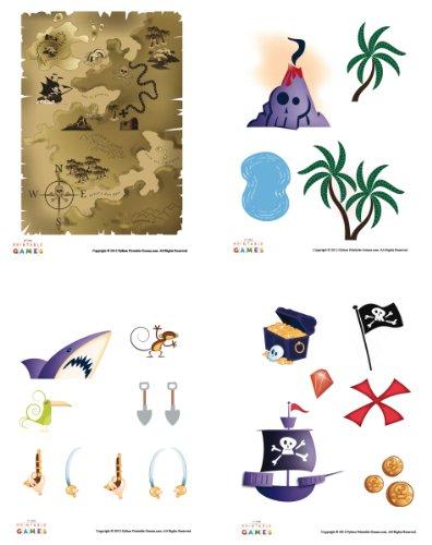 Printable Pirate Treasure Map Pirate Craft For Kids [Download] (Digital Map Printable)