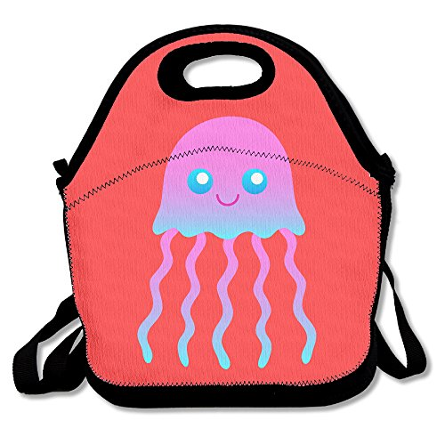 Personalized Jellyfish Fashion Lunch Tote Bag Black,One Size ()