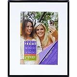 Snap 09FP371 Black Flex Float Frame, 8-Inch by 10-Inch