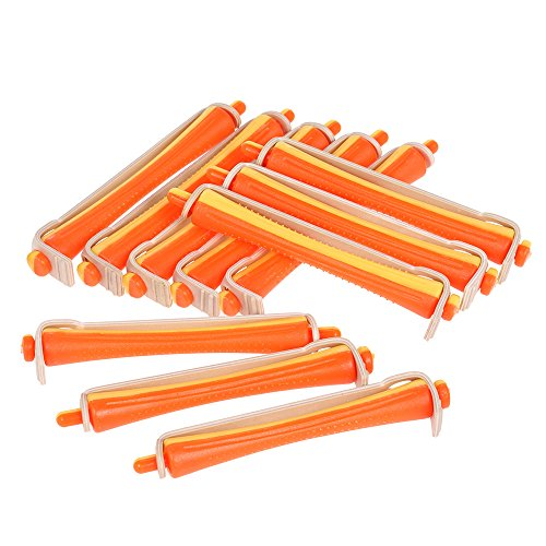 Perm Rods Anself 12 Pieces Salon Cold Wave Rods Hair Roller With Rubber Band Curling Hairdressing Styling Tool Perms