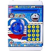 SME Piggy Bank Safe Box Money Coin ATM Bank Toy ATM Machine Kids Gift Money Box Digital Saving Boxes (Doraemon-Blue)