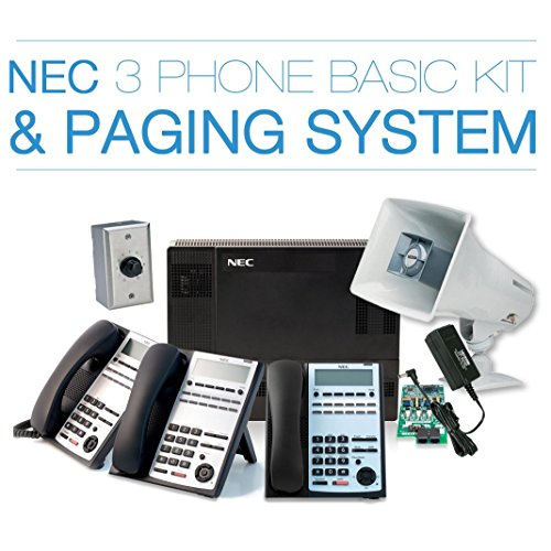 NEC SL1100 3 Phone Kit with 2-Way Intercom/Paging System for Warehouse Auto Shop Office Restaurant etc. by VOIPLINK