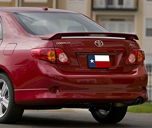 DAR Spoilers ABS-720p 2009-2013 Toyota Corolla Factory Post Clear Light Spoiler44; Painted (Toyota Corolla 2010 Spoiler compare prices)