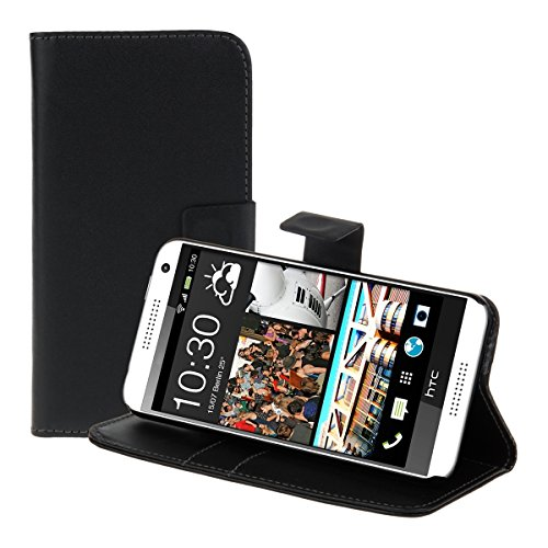 kwmobile Elegant synthetic leather case for the HTC Desire 610 with magnetic fastener and stand function in black