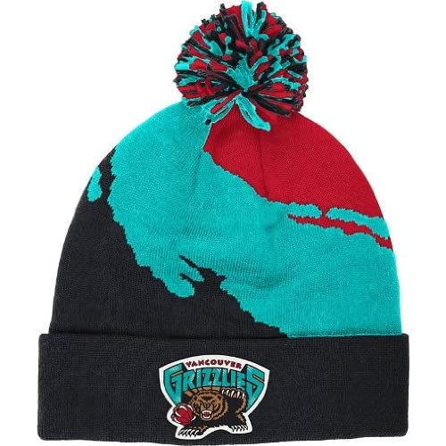 Mitchell & Ness Vancover Grizzlies Cuff Knit Black - Red- Teal