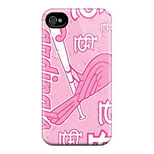 High Quality Shock Absorbing Case For Iphone 4/4s-st. Louis Cardinals
