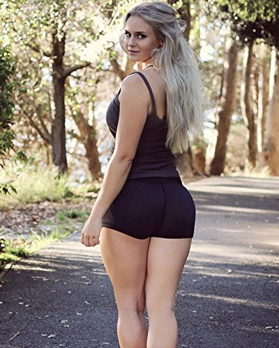 Ragazze Yoga Donne Sportivi Vita Alta Marrone Tomwell Corti Hot Pantaloni Pants Casual Shorts Pantaloncini Moda Estate HSwTnv8f