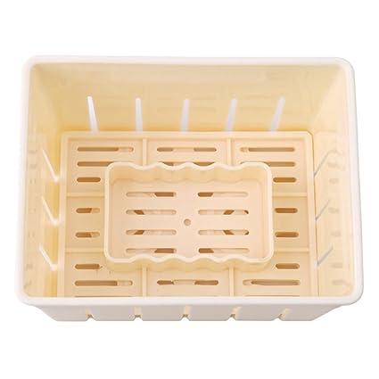 BESTONZON Tofu Maker Press Kit de Moldes de plástico para Hacer Queso Tofu Molde DIY Herramienta