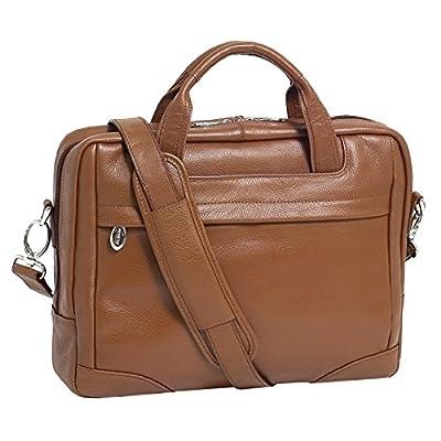 """hot sale 2017 McKlein USA S series BRONZEVILLE Leather Medium 15.4"""" Laptop Briefcase in Brown"""