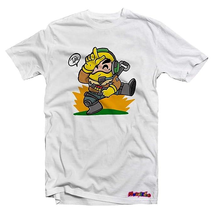 Camiseta Muddle Fortnite by DAC Unisex (XS, Blanco)