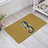 wenhuamucai Steampunk Seahorse Doormat Welcome Mat Entrance Mat Indoor Door Mats Floor Mat Bath Mat 16W X 24H inch