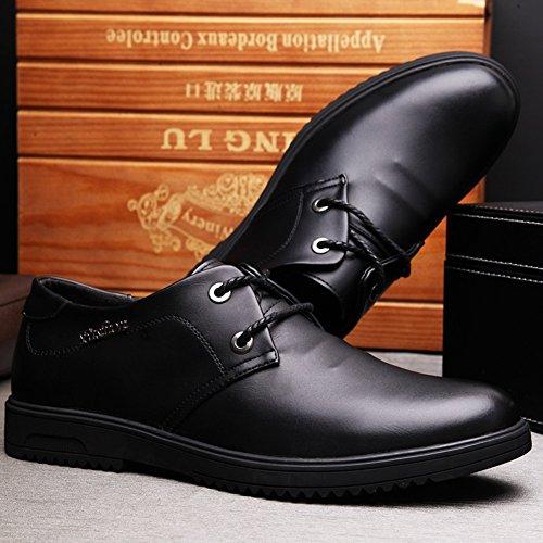 Hombre Negro Casual Zapatos y Cuero Oficina Moda Trabajo Nueva Zapatos Black de casuales Mocasines de ttw1qOa