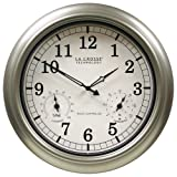 La Crosse Technology 18-Inch Atomic Outdoor Clock, Pewter