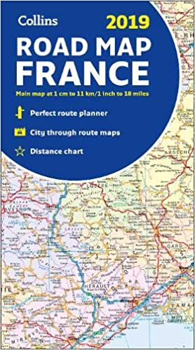 Detailed Road Map Of France.2019 Collins Map Of France Amazon Co Uk Collins Maps