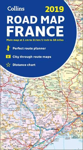 2019 Collins Map of France: Amazon.co.uk: Collins Maps ...