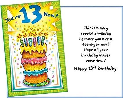 Prime Greetings Youre 13 Now! Este es un cumpleaños muy ...