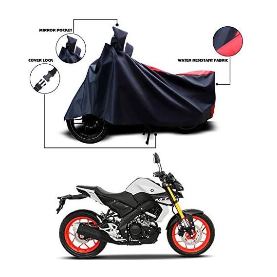 SnehaSales - Yamaha MT-15 - Water Resistant - UV Protection & Dustproof Full Bike Body Cover Strip RED