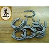 30 pc set Small Pony Horseshoes for Crafts Cast Iron