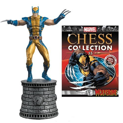 Marvel Chess Figure & Magazine #55: Wolverine White Knight (Chess Board Eaglemoss)