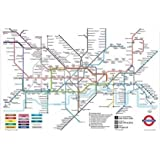 HUGE LAMINATED London Underground Tube Map Poster by Poster Parfait