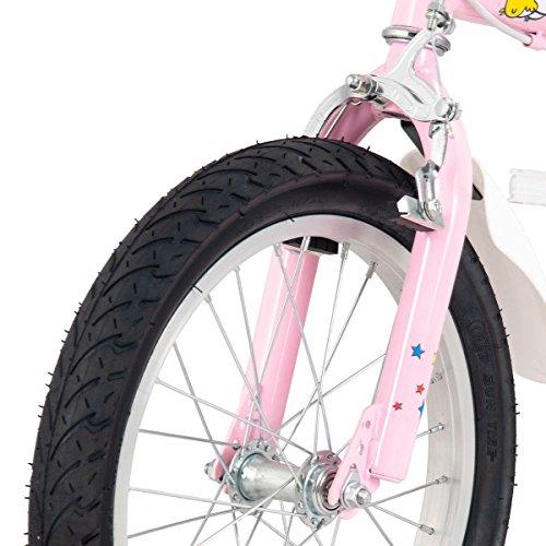 FDInspiration Pink 45'' x 31.5'' Metal Frame Kids Bike w/Training Wheels with Ebook by FDInspiration (Image #7)