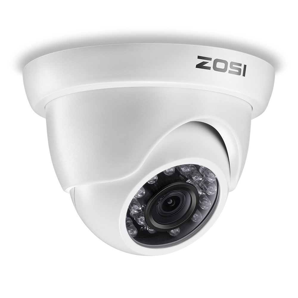 ZOSI 1/3'' 1000TVL 960H Security Surveillance CCTV HD Camera Had IR Cut 3.6mm Lens Outdoor Weatherproof Day Night Vision 65ft Distance White