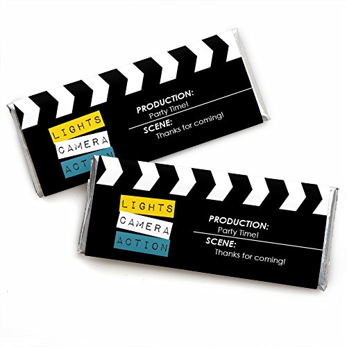 Movie - Hollywood Candy Bar Wrappers Party Favors - Set of 24