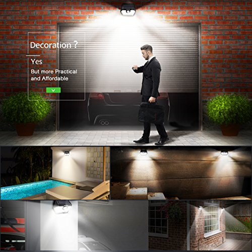 Mpow Solar Lights Outdoor, Bright 20 LED Motion Activated Lights with Wide Angle Lighting, IP65 Waterproof Wireless Security Lights for Garage Front Door Garden Pathway - 2 Pack (Auto On/Off) by Mpow (Image #5)